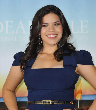 America Ferrera's Long Curly Hairstyle