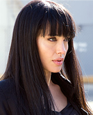 Angelina Jolie Straight Hair with Bangs in the Upcoming Film 'Salt'