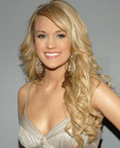 Carrie Underwood's Long  Curly Blonde Hairstyle