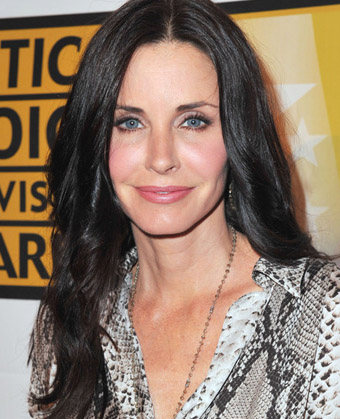 Courteney Cox's Center-Parted Soft, Wavy Hairstyle