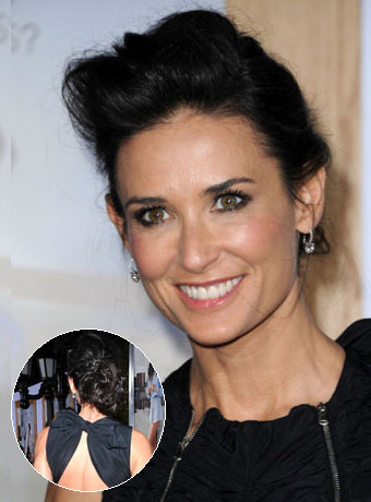 Demi Moore's Loose Updo Hairstyle