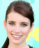 Emma Roberts's High Ponytail Hairstyle with Bangs at 2009 Teen Choice Awards
