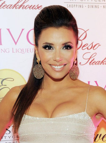 Eva Longoria's Half-up, Half-down Hairstyle