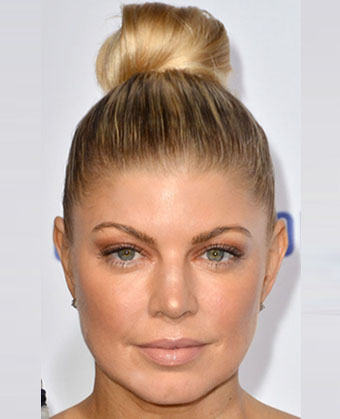 Fergie's Sleek Updo Hairstyle