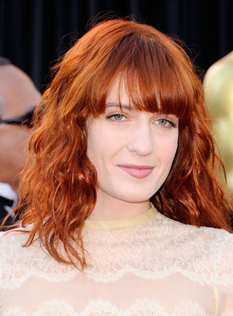 Florence Welchs Red Curly Hairstyle