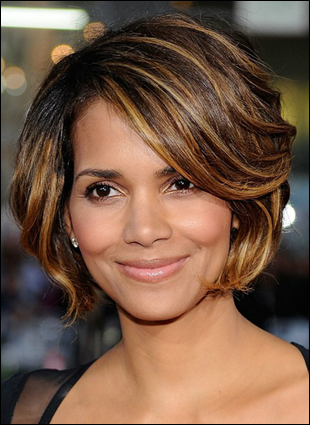 wavy medium length hairstyles. Halle Berry Medium Length