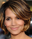 Halle Berry Medium Length Layered Wavy Hairstyle
