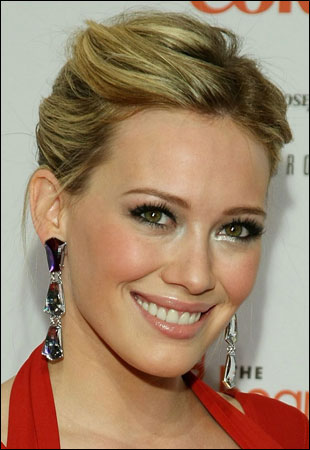 Hilary Duff with Messy Updos