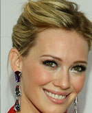 Hilary Duff with Messy Updos Hairstyle at 2009 Fashion Show