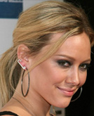 Hilary Duff with Elegant Low Ponytail Hairstyle
