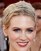 January Jones's Jewray Updo at 2008 Emmy Awards