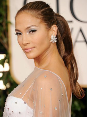 Jennifer Lopez's Sleek Ponytail