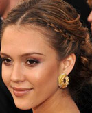 Jessica Alba's Braid Chignon at 2008 Academy Awards