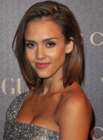 Jessica Alba's Sleek Bob Cut