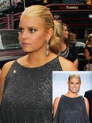 Jessica Simpson's Sleek Ponytail