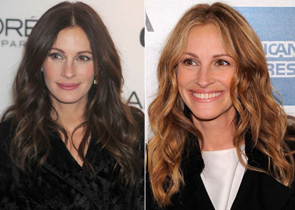 julia roberts hair colour. Julia Roberts is blonde again,