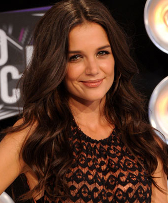 Katie Holmes' Long Wavy Hairstyle
