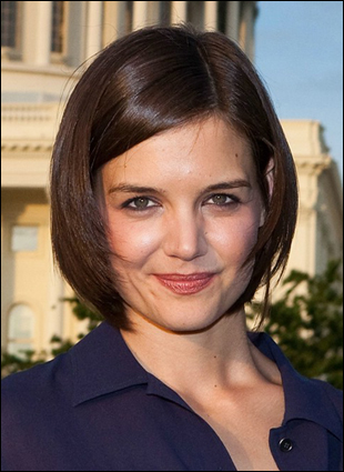 katie holmes short hairstyles. Katie Holme with Short Bob