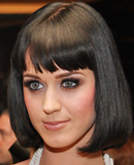Katy Perry Medium Bob Hairstyle with Bangs