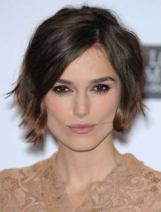 Keira Knightley's Tousled Wavy Bob Hairstyle