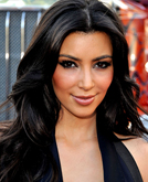 Kim Kardashian's Long Romantic Curly Hairstyle