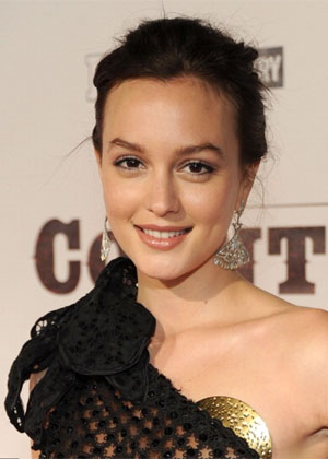 Leighton Meester's Chic Updo Hairstyle