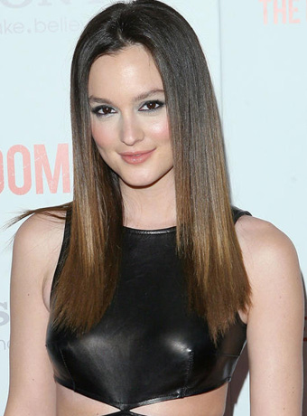 Leighton Meester's Straight Brunette Hairstyle