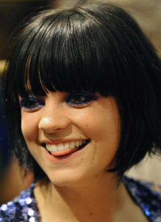 Lily Allen's  Sleek Bob Hairstyle