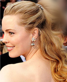 Melissa George Blonde Half Up Half Down Curly Hairstyle at Oscars 2009