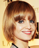 Mena Suvari Bob Hairstyle with Bangs