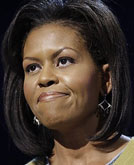 First Lady Michelle Obama's Medium Length Hairstyle