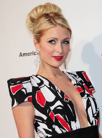 Paris Hilton's Sleek High Updo