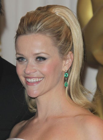 Reese Witherspoon's Retro Pumped-up Hairstyle