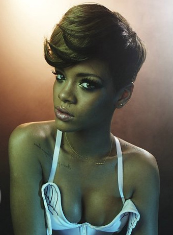 Rihanna's Rolling Stone Short Hairstyle