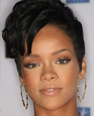 Rihanna with Short Hairstyle