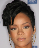 Rihanna's Short Asymmetrical Cut and Long Straight with Bangs