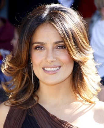 Salma Hayek's Medium Wavy Hairstyle