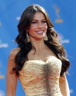 Sofia Vergara's Long Wavy Hairstyle