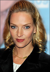 Uma Thurman's Sophisticated Medium Hairstyle in Sundance Red Carpet 2009