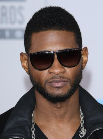 Usher's Cool  Buzz Hairstyle with Glasses at 2010 AMA