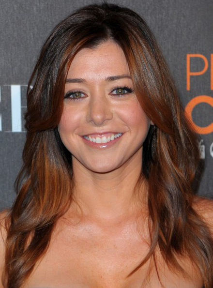 Alyson Hannigan S Long Medium Swept Hairstyle At 2010
