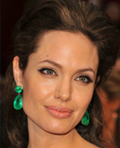 Angelina Jolie with Half Up Half Down Hairstyle at Oscars 2009