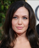 Angelina Jolie with Beach Inspired Waves Hairstyle
