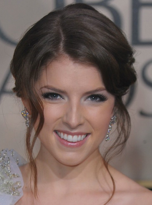 Anna Kendricks Face framing Tendrils Lend A Soft Twist To