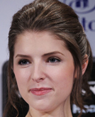 Anna Kendrick's Pulled-back Updo Hairstyle