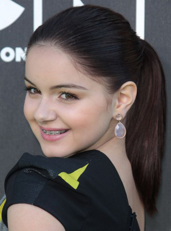 Ariel Winter's Smooth and Sleek Ponytail