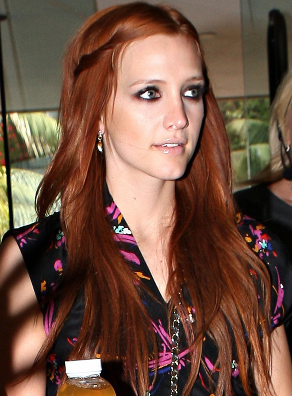 Ashlee Simpsons Long Red Hairstyle
