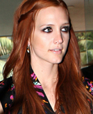 Ashlee Simpson's Long Red Hairstyle