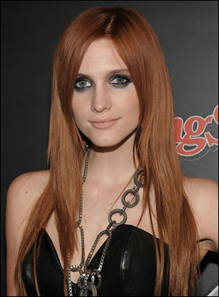 ashlee simpson hairstyles pictures. Ashlee Simpson's Long Straight Hair With Bangs