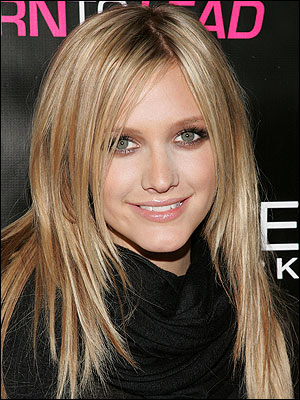 ashlee simpson hairstyles pictures. Ashlee Simpson's Straight Hairstyle